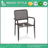 Cadeira do Rattan que janta a cadeira ao ar livre do metal da cadeira da cadeira Stackable da cadeira (estilo mágico)