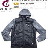 人のフードの長い袖PUの快適なジャケット