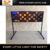 Signe solaire de panneau de flèche de DEL pour la sécurité routière avec la garantie