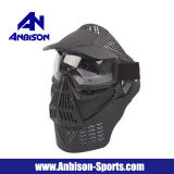 La máscara de la lente de los anteojos de Airsoft de la cara llena con el cuello protege