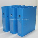 Blaues/schwarzes A4 pp. Hebel-Bogen-Datei-Faltblatt mit Metallrand-Schoner und Dorn-Kennsatz-Tasche