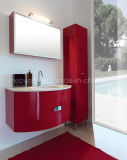 PVC de 800mm Cheap Green Bathroom Sets avec Tall Side Cabinet