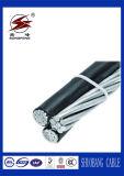 Cable de transmisión de arriba eléctrico del conductor de aluminio del cable del ABC