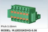 二重列の女性の差込式かプラグイン可能な端子ブロック(WJ2EDGKDH-5.08)