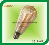 Bulbo de oro del filamento de St64-4W 6W LED