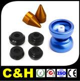 Negro/piezas de aluminio anodizadas Red/Blue del torno del CNC