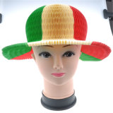 Sombrero de papel plegable del sombrero de la playa del verano y sombrero colorido para el partido