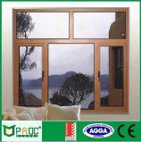 Casement Windows деревянного зерна алюминиевый с сертификатом Pnoc0090cmw Ce