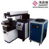 A propaganda exprime o soldador da máquina de soldadura do laser/laser