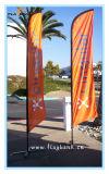 bandiera di volo di stampa del Tradeshow di 4.5m singole/bandierina laterali di alluminio della piuma