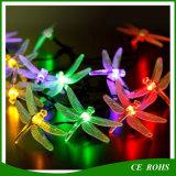 クリスマスツリー装飾的なLEDの滑走路端燈のトンボストリングは祝祭のための多彩な太陽ストリングランプ20LED/30LEDをつける