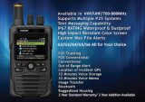 Wasserdichter und staubdichter Digital-FeuerPager mit Bluetooth für Feuerwehr-Feuerbekämpfung
