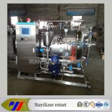 Glass BottleのためのPLC Control Water Spray Retort Sterilizer