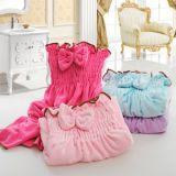 줄무늬를 가진 연약한 목욕 수건은, 다른 색깔 유효하다