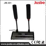 Sistema dual profesional del micrófono de condensador de Electret del alambre del cuello de cisne