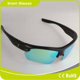 Óculos de sol permutáveis polarizados da tecla do toque dos auriculares de Bluetooth das lentes