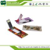 Lecteur flash USB fait sur commande de carte de visite professionnelle de visite de promotion avec le logo libre