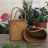 Eco-Friendly Handmade 자연적인 밀짚 꽃 바구니 (BC-S1201)