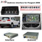 Peugeot 208 2008年、308、408、508 (MRNシステム)背面図、ミラーリンク、声制御のための人間の特徴をもつGPSの運行ボックスビデオインターフェイス