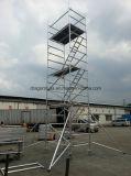 Andamio doble de aluminio de la Paso de progresión-Escalera de la anchura de la alta calidad