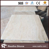 Tuile composée de marbre beige moderne de travertin pour le plancher