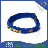 Gute Qualitätskundenspezifisches Gewebe gesponnener Wristband für förderndes Geschenk