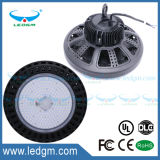 45 60 120 degrés IP65 imperméabilisent la lampe élevée de compartiment d'UFO 100W DEL d'UL