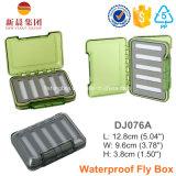 uma caixa de pesca impermeável da mosca da capacidade lateral dobro Brand-New da inserção da espuma