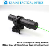Força militar Heavy Duty Qd Mount Tactical Minus 35 Degre Steady Working 520nm Green Laser Sight (ES-LS-HY06G-ML)