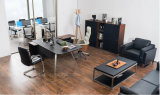 Scrittorio di legno del nuovo di stile ufficio del cuoio (V18A)