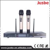 Microfone Handheld sem fio dinâmico cardióide Hyper audio profissional do canto do estágio do karaoke da freqüência ultraelevada KTV de Jusbe Fu-2980