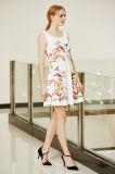 Ultimo vestito floreale simmetrico alla moda da Ponte del pattinatore dell'oscillazione della stampa di disposizione