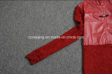 Rotes Restonic Frauen PU-Kleid