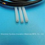 Identificação branca da tubulação 12mm Od 10mm do preto PTFE de Sunbow para fios elétricos