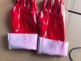 세륨 승인 (SQ-017)를 가진 빨간 작업 노동 장갑