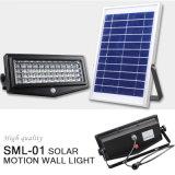 Luz casera solar al aire libre de la lámpara de pared de la venta caliente con el regulador alejado