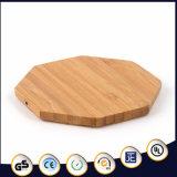 Almofada cobrando sem fio material de bambu da forma do Octagon