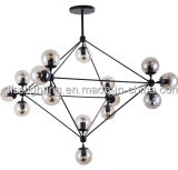 Lámpara de las bolas de cristal del estilo de la vendimia para la decoración