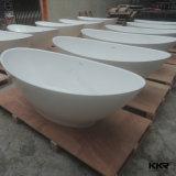 Venta caliente moderna piedra de la resina de bañera superficial sólida