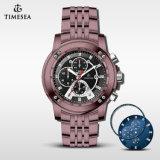 Reloj de lujo del acero inoxidable del reloj del cronógrafo de Miyota OS60 para Men72624
