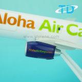 B737-300 prodotti di plastica delle merci aviotrasportate dell'aeroplano di modello della scala 26cm Aloha