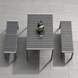 Jeu en bois en plastique en aluminium de Tableau de présidence de type de jardin de tréfilage extérieur simple neuf de meubles