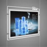 Casella chiara di cristallo del LED con il marchio acquaforte