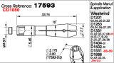 Anello dell'asse di rotazione 17593 della perforatrice 1201-06 di Posalux