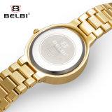El reloj de Belbi corroyó el reloj cuadrado del cuarzo del acero inoxidable de los diamantes de los carácteres asiáticos del Shading
