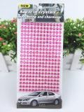 Верхняя часть 2017 продавая стикер письма алфавита стикера DIY самоцвета Rhinestone акрилового кристаллический стикера акриловый кристаллический (TP-розовый кристаллический стикер)