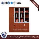 Aluminiumglastür-Büro-Bücherschrank-moderne Melamin-Büro-Möbel (HX-4FL003)