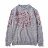 Heiße kundenspezifische Bedeckung-Wolljacke-Farbe gestickte gestrickte Gewebe-Strickjacke des Kleides des Mannes