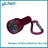 Mini lanterna elétrica de 5 diodos emissores de luz com Carabiner