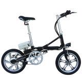 E 자전거를 접히는 16 인치 가득 차있는 현탁액 알루미늄 합금